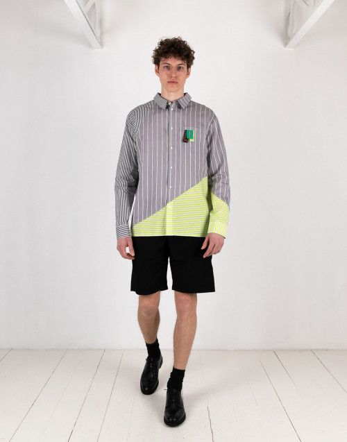 Grey Striped Hadee Shirt