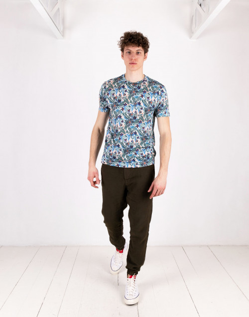 Crew-neck t-shirt with pattern