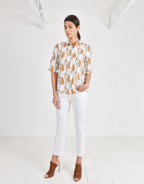 Eva shirt with flower print