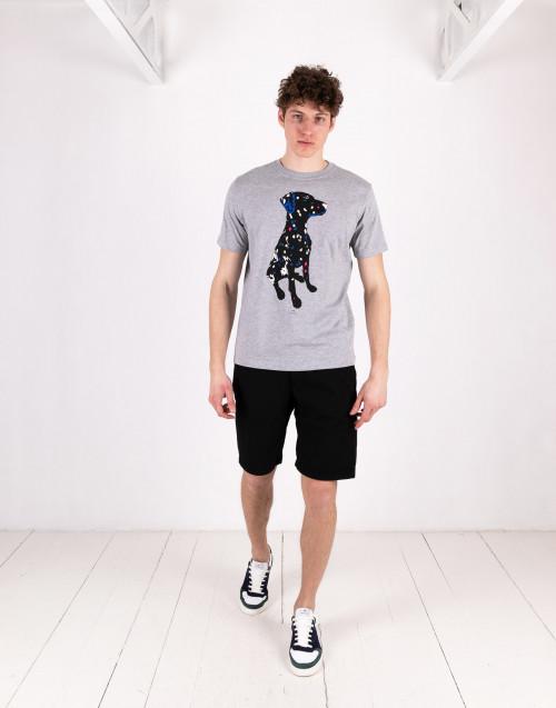 Gray Dalmatian print t-shirt