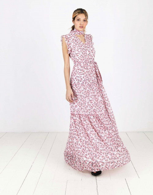 Long dress with Rays print