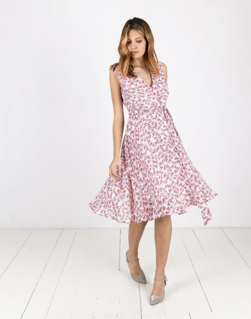 Rays print midi dress