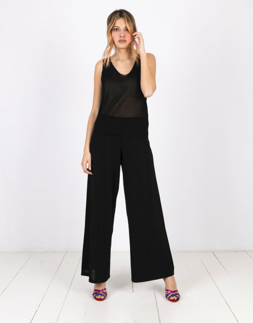 Black lurex trousers