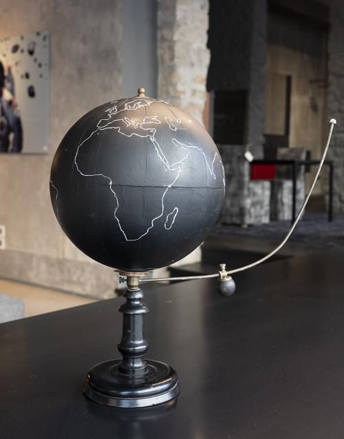 Vintage black terrestrial globe