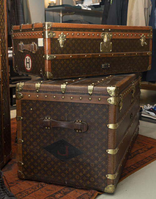 Baule vintage Malle Courrier Louis vuitton