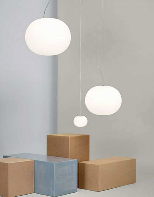 White Glo Ball Suspension 1 lamp