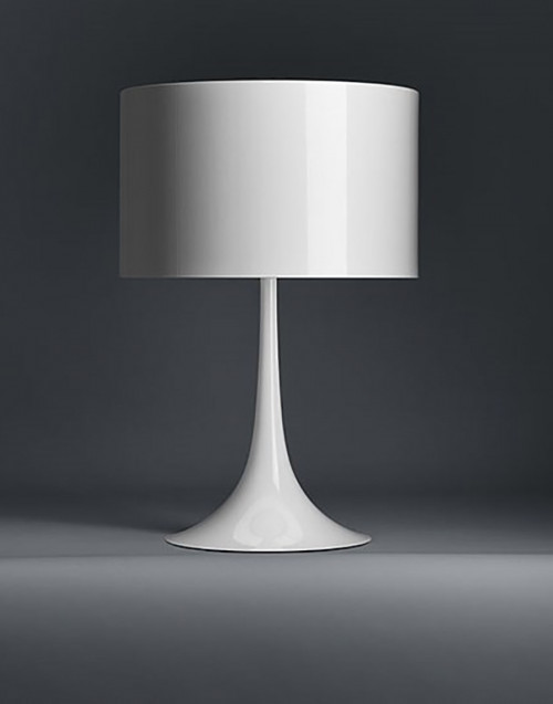 White Spun Light Table 1 lamp