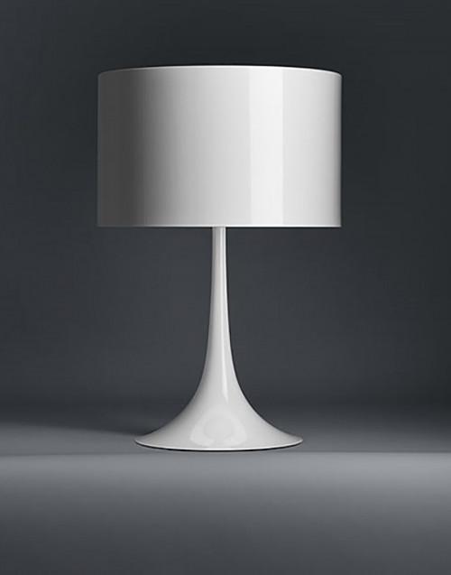 White Spun Light Table 1 lamp