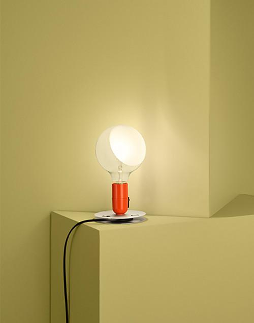 Lampada da tavolo Lampadina Arancio
