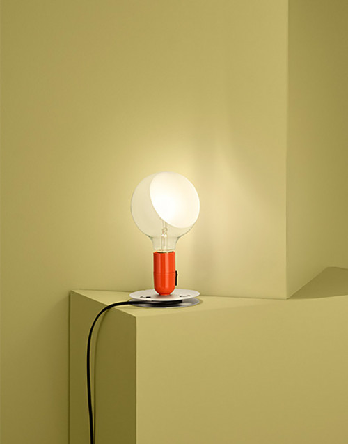 Orange Lampadina Table Lamp