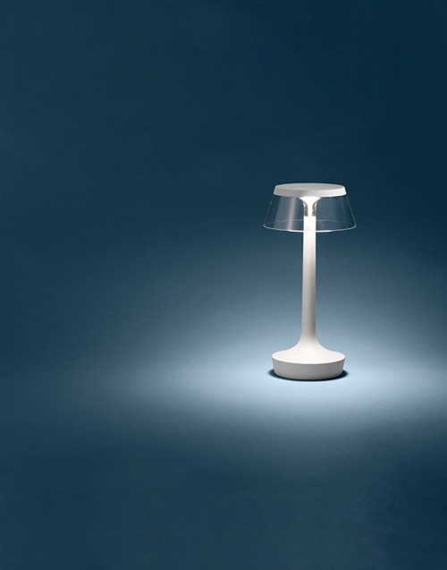 Bon jour unplugged White matt lamp