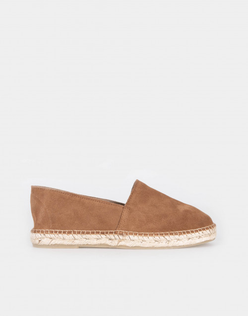 Espadrillas in suede cammello