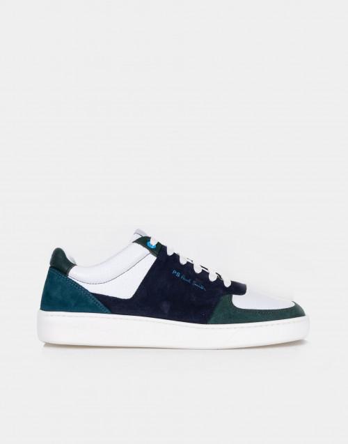 Sneakers in pelle bicolor