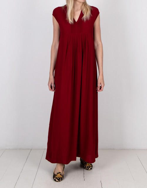 Ruby color long dress