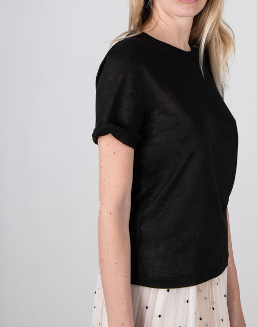 T-shirt in lino nera