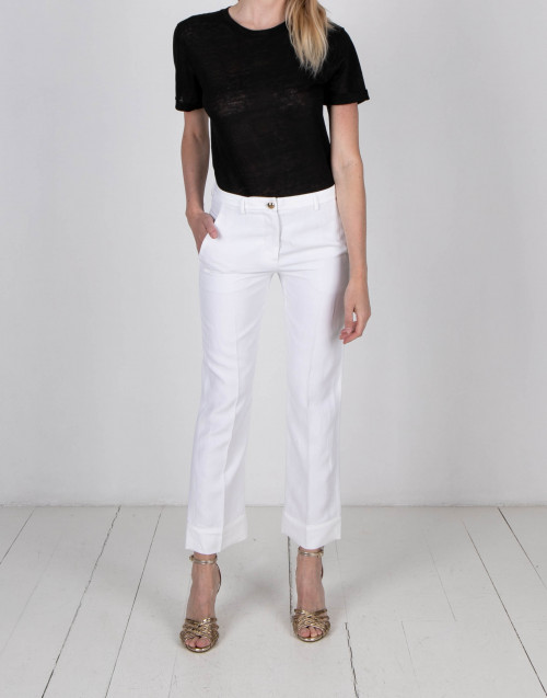 Pantalone a trombetta bianco