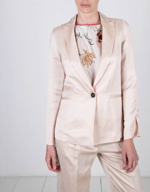 Ivory color linen blazer