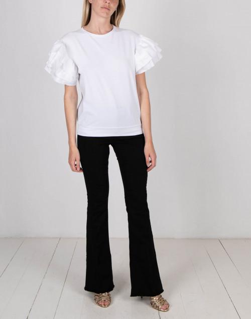 T-shirt con ruches bianca