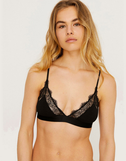 Love Lace Bralette - Black