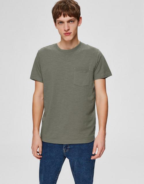 T-shirt in cotone organico oliva
