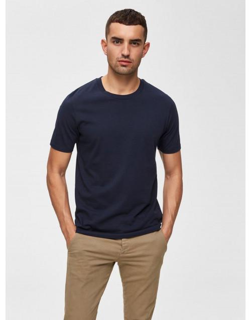 T-shirt in cotone blu