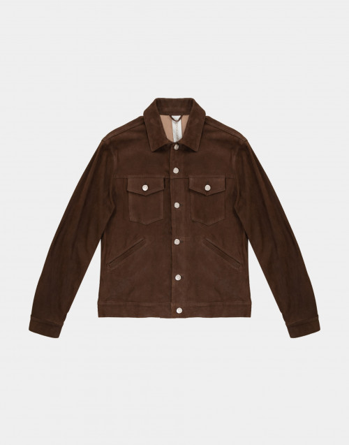 Brown suede jacket
