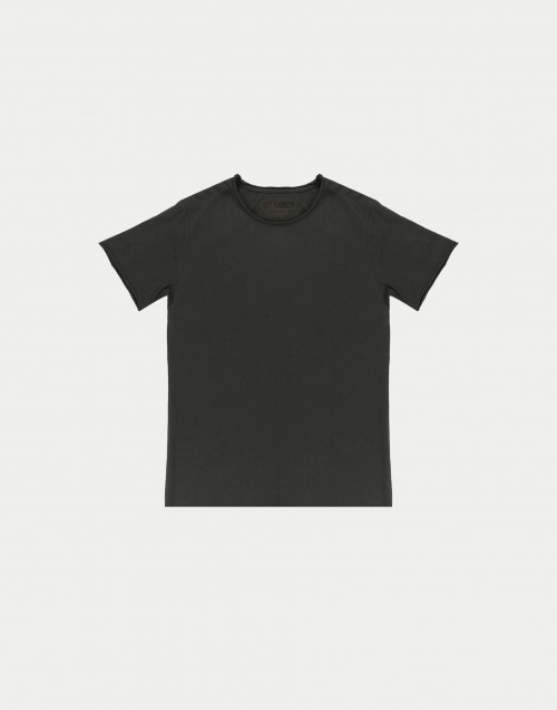 T-shirt in cotone oliva