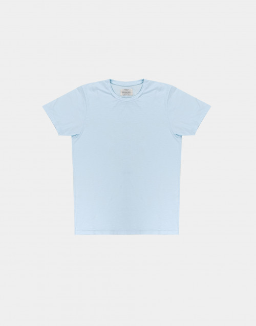 Light blue flamed cotton t-shirt