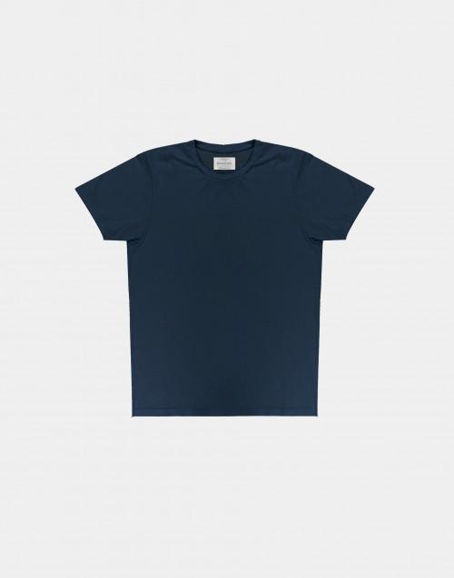 T-shirt in cotone fiammato blu