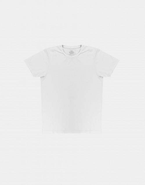T-shirt in cotone fiammato bianca