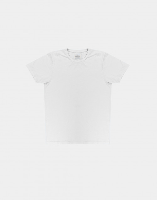 White flamed cotton t-shirt