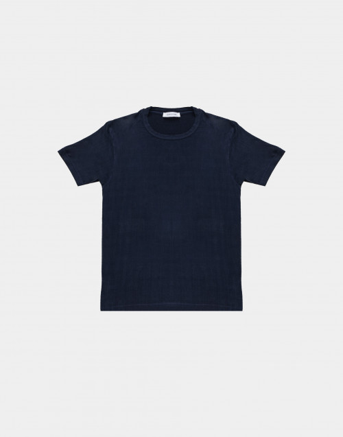 T-shirt effetto seta blu
