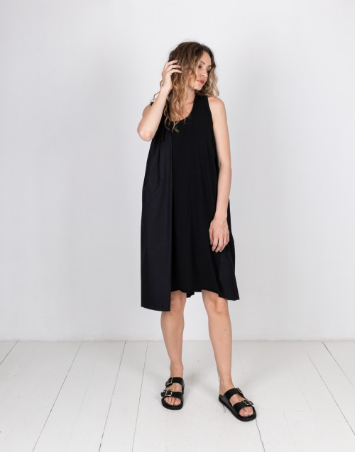 Ruches black dress