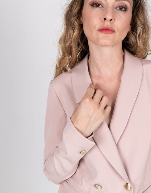 Two-button pink blazer