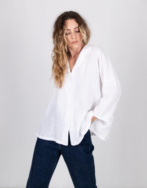 Camicia in lino bianca