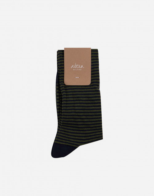 Blue and military green colour cotton socks