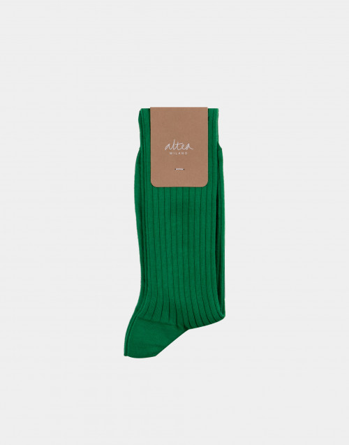 Green and black cotton socks