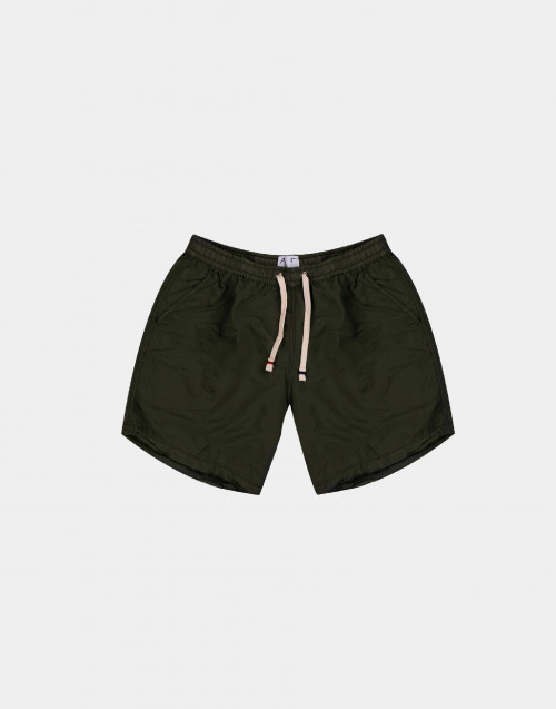 Green solid colour man swim short
