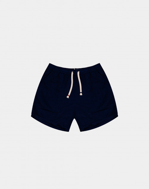 Dark blue solid colour man swim short