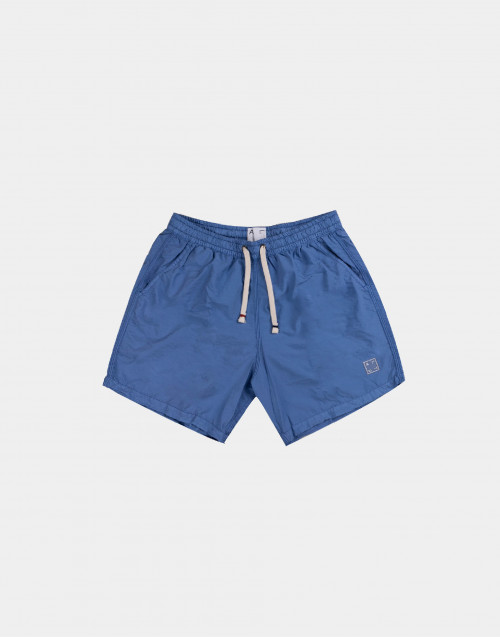 Light blue solid colour man swim short