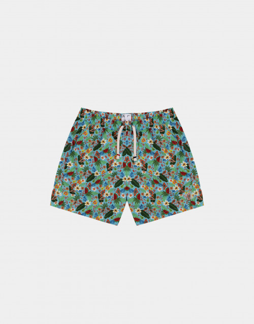 Man swim short with esotic print