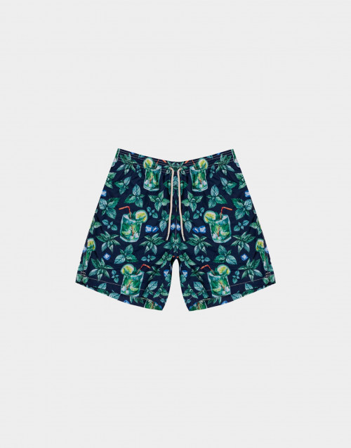 Man swim short with mojito