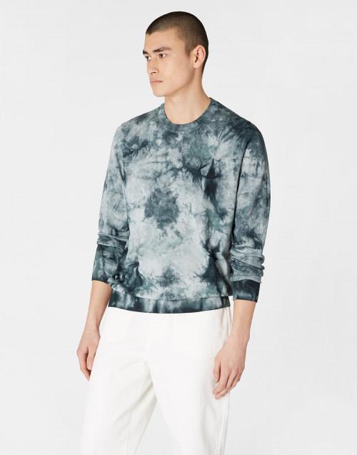 Maglione Tie-dye grigio