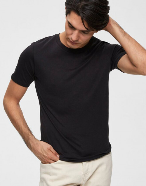 T-shirt in cotone nera