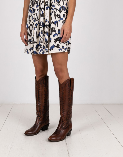 Brown Rebecca texan boot