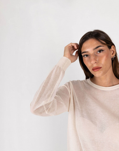 Cream colour round neck sweater