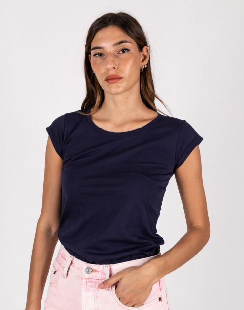 T-shirt basic blu