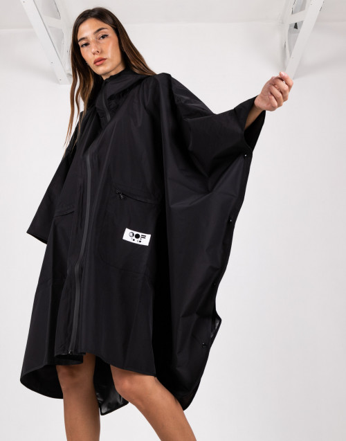 Black waterproof cape