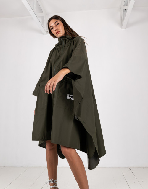 Olive waterproof cape