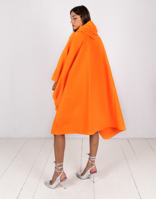 Orange waterproof cape